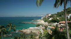 Puerto Vallarta coast and wealthy resorts Mexico P HD 4590 - stock footage