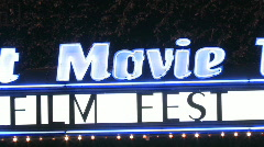 Film Festival Marquee Stock Footage