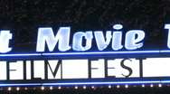 Stock Video Footage of Film Festival Marquee
