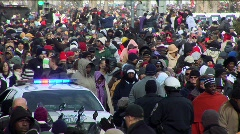 Obama Inauguration Crowds Stock Footage