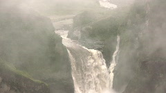 Tilt down San Rafael Falls, Ecuador Stock Footage