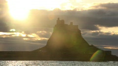 Castle at dawn Stock Footage