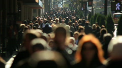 Slow Motion anonymous crowd Stock Footage