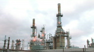 Stock Video Footage of Refinery - Wide