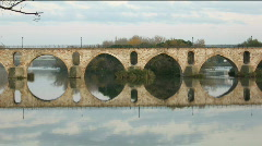 Stone bridge time-lapse Stock Footage