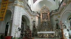 Lady Guadalupe Church inside pan P HD 4641 Stock Footage