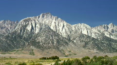 Lone Pine Peak and Mt. Whitney Stock Footage