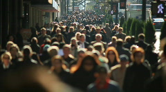 Large anonymous crowd Stock Footage