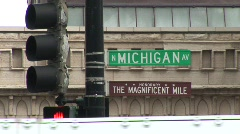 Stock Video Footage of Michigan Avenue Chicago, Illinois