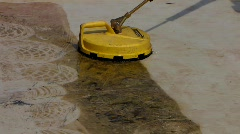 Machine washing floor Stock Footage