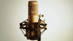 the golden microphone - HD 1080 - stock footage