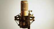Stock Video Footage of the golden microphone - HD 1080
