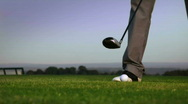 Golf drive  Stock Footage