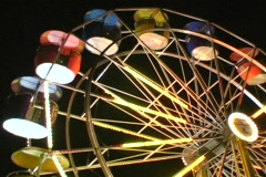 Lighted Ferris Wheel Empty - stock footage