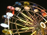 Stock Video Footage of Lighted Ferris Wheel Empty