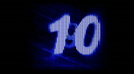 Dot Countdown 10 digit Stock Footage