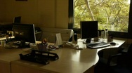 Empty office room in a sunny day with natural view  Stock Footage