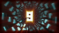 10 digit countdown tunnel Stock Footage