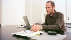 Businessman at work  Stock Footage