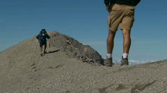 Hiking the Ridge - stock footage