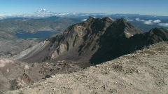 Highest Point on Mt St Helens Stock Footage