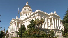California State Capitol Stock Footage