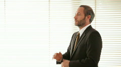 Businessman thinking Stock Footage
