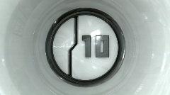 Stock Video Footage of 10 digital Countdown HD Alpha