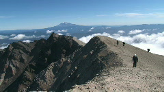People Summit Mt. St. Helens Stock Footage