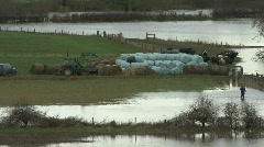 Flooding on the River Tees. Stock Footage