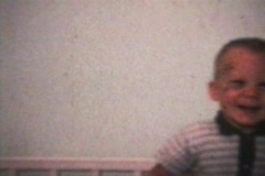 Little Boy With Black Eye (1963 - Vintage 8mm film) Stock Footage