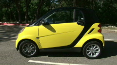 Smart car drivers side Stock Footage