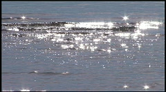Water sparkles in the sunlight 2 Stock Footage