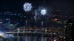 Pittsburgh Fireworks 1239 Stock Footage