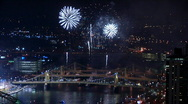 Stock Video Footage of Pittsburgh Fireworks 1239