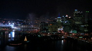 Stock Video Footage of Pittsburgh Fireworks 1226