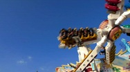 Stock Video Footage of Munich beer festival Oktoberfest chairoplane
