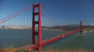 Stock Video Footage of Golden Gate Bridge Time Lapse