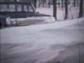 Stock Video Footage of Winter Snow Drifts (1963 - Vintage 8mm film)