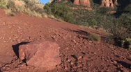 Stock Video Footage of cowboy draws gun in red rocks