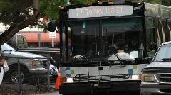 Miami-Dade Bus System Stock Footage