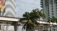 Miami-Dade Metromover Stock Footage