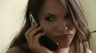 Stock Video Footage of Portrait Of A Beautiful Girl Talking On The Phone