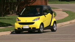 smart car drives right - stock footage