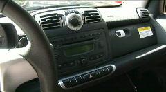 Smart car dash pan 2 Stock Footage