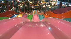 Carnival Slide POV Stock Footage