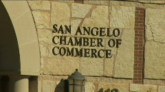 San angelo chamber sign Stock Footage