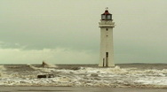 Stock Video Footage of Lighthouse on a stormy day 2
