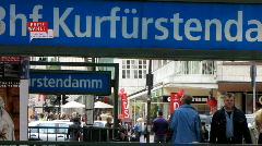 Germany Berlin Kurfürstendamm traffic zebra cross - stock footage