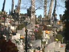 Polish cemetary Stock Footage